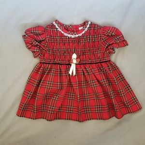 Baby Girl's, Red, Plaid, Rose Cottage Dress